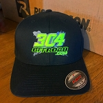 Flexfit Hat (Lime/Grey Logo) Black