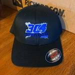 Flexfit Hat (Blue/Grey Logo) Black