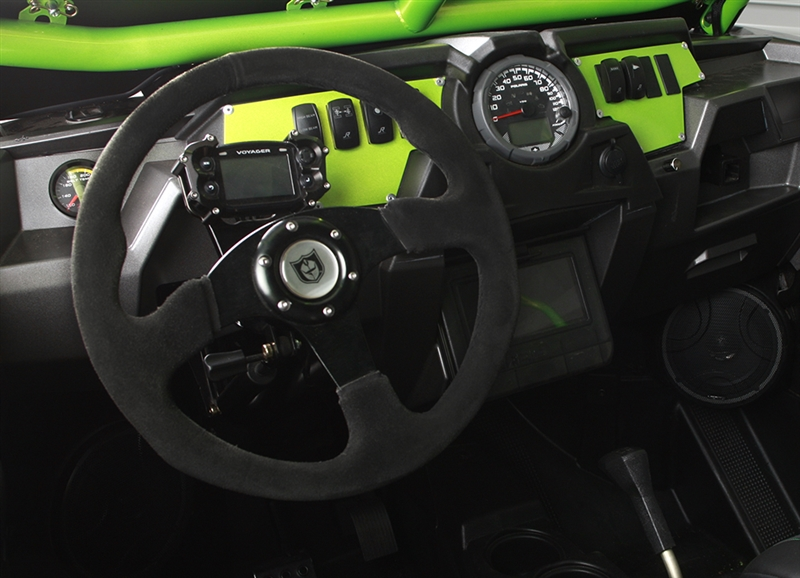 Pro Armor Force Circle 13 Steering Wheel with Red Stiching P081275