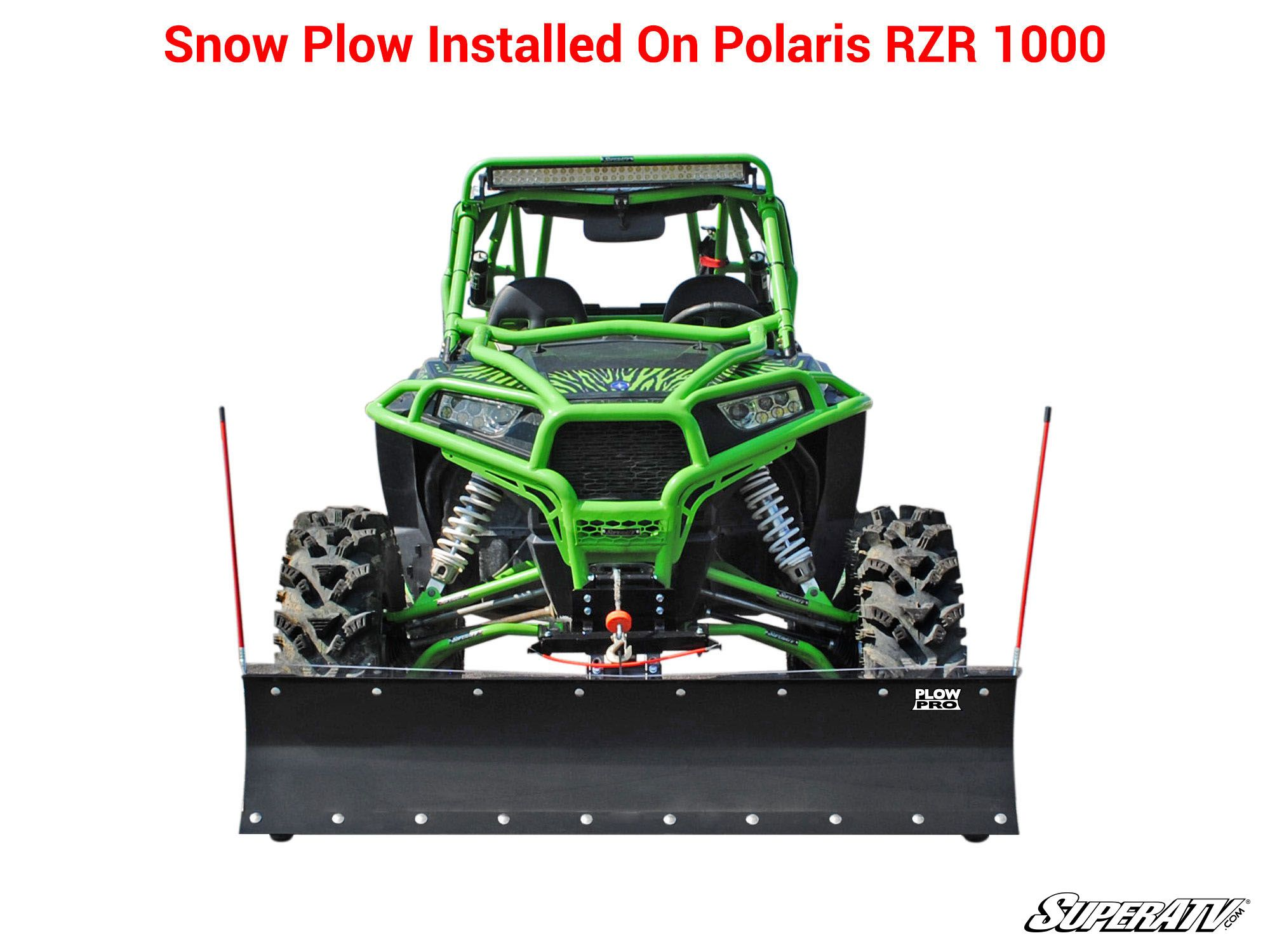1000 SuperATV Plow Pro Heavy Duty Snow Plow Mount for Can-Am Commander 800