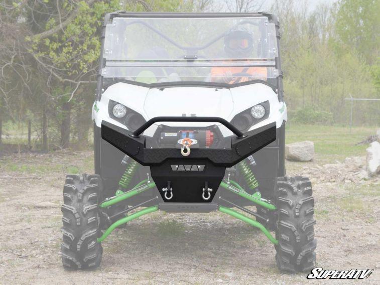 SuperATV Kawasaki Teryx Diamond Plate Front Bumper on