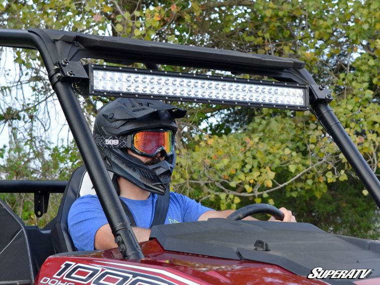 Superatv Polaris Rzr 30 Quot Straight Curved Light Bar Cage