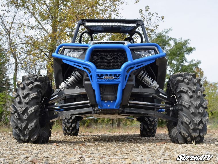 2018+ - Red SuperATV Heavy Duty Front Brush Guard Bumper for Polaris RZR XP Turbo S 100/% Bolt On for Easy Installation!