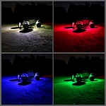 (UTV) - RGB+W Color Change Rock Light Kit