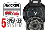 SSV Works Polaris '15+ RZR Complete Kicker 5 Speaker Plug-And-Play System