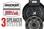 SSV Works Polaris General Complete Kicker 3 Speaker Plug-And-Play System