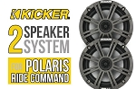 SSV Works Polaris RZR XP Turbo S - Kicker 2 speaker system