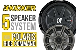 SSV Works RZR Turbo S Complete Kicker 5 Speaker Plug-And-Play Kit For Polaris Ride Command Systems