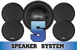 SSV Works Polaris RZR 570/800/S Complete 5 Speaker System