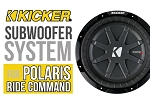 Polaris RZR XP Turbo S Complete Kicker Subwoofer Plug-&-Play Audio System