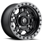 Fuel Anza Series D557 Matte Black Center w/ Anthracite Ring