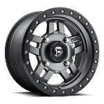 Fuel Anza Series D558 Matte Anthracite Center w/ Black Ring