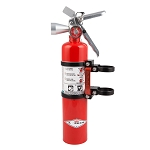 Axia Alloys Quick release fire extinguisher mount w/ 2.5lb HALOTRON extinguisher