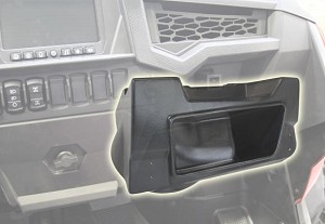 SSV Works RZR Turbo S Glove Box Sub Box With 600 Watt 10""